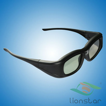 active shutter 3D glasses USB chargeable battery with reasonable price and classic style