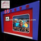 Fresh machine Stimulating 5d dynamic cinema 6DOF motion theater system Guangdong supplier