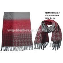 designed two tone winter shawl 2014 fashion trend woven acrylic scarf