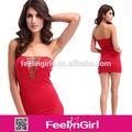 エレガントな女性の赤のオープン工場卸売安い成熟した女性のセクシーなミニドレス
