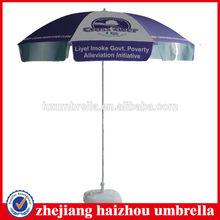 steel frame thick ribs beach umbrella