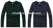2014 Peijiaxin Fashion Design Casual Style Long Sleeve O-neck Mens Bulk Blank T-shirts