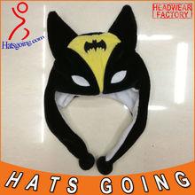 Wholesale Cute Children Party Plush Animal Batman Hats