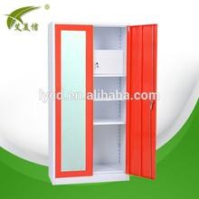 Hot sale 2 door wardrobe with mirror inside indian door designs double doors