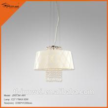 Blanc luxe Ceilling éclairage lustre 1 - lumières lustre boucles d'oreilles