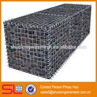 Galvanized welded gabion wire mesh box, welded gabion mesh for decoration, stone cage