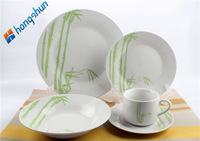 popular round daily use porcelain with classic geometric pattern