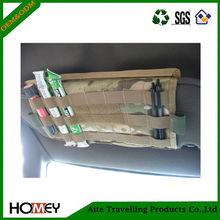 Premium 600D/400D polyester car sun visor organizer with pockets