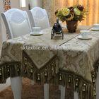 handmade chenille embroidery table cloth with silk thread beaded tassel
