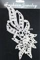 coser en motivos rhinestone apliques y adornos de encaje de soldadura a mano con cristal de strass para vestido de novia