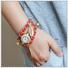 2014 Hot! New Listing Korean Fashion Simple Inlaid Rhinestones Long Leather Quartz Watches Women Dress Watch Bling DW032