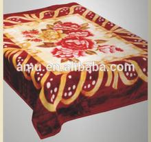 100% polyster blanket,acrylic cotton polyester blanket,