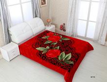 2014 super soft 100% polyester 3D design excellence raschel blankets