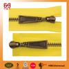 Dongguan fashion design #5 two way open end double slider brass zipper fastener