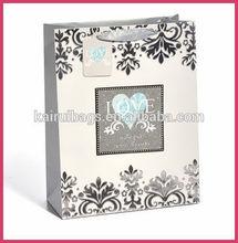 love heart shape glitter gift bag baby