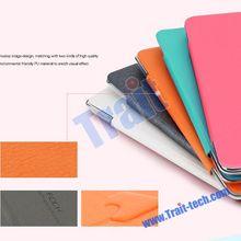 New Arrival Rock Colorful Series Tri-fold Flip Stand PU Leather Case for iPad mini iPad mini 2 Retina (Rose)