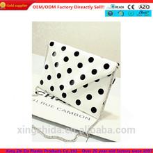 China supplier wholesale PU shoulder bag printing Polka dots