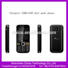 Cheapest 2.4 inch QVGA cdma gsm dual sim mobile phones S95 support Multi-language