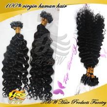 2015 New Arrival 100% Virgin Weave Peruvian Kinky Curly Micro Loop Hair Extension