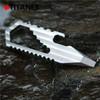 Hot Selling EDC Multi Tool Keychain, Portable Metal Craft Tool, Titanium Alloy Bottle Opener Keychain