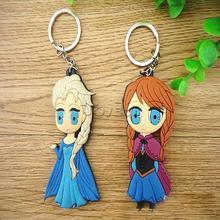 New Movie Frozen Keychain Elsa Anna Doll Keychain in Key Chains(Double-sided)