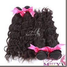 Lovely queenlike hair long virgin human virgin peruvian hair,peruvian water wave hair weft