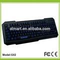 as últimas fino fio blue led backlight teclado para jogos