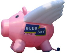 Advertising inflatable pink pig,inflatable flying pig,inflatable pig