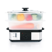 Stackable layer food steamer with glass lid XJ-10107