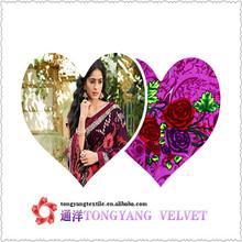 jiangsu changzhou tongyang 100 polyester printed metallic micro velvet 5000 textile and fabrics