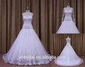 Popular querida lace espanhol puffy vestido de casamento com lace bolero jacket