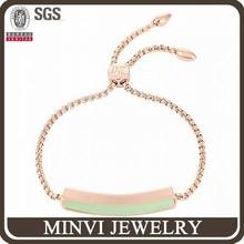 Antique look fashion jewlery rose gold bracelet