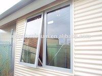 Heat insulation aluminium glass top hung window with mosquito net