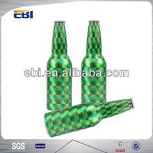Empty aluminum 1 liter beer bottles