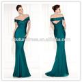 Sıcak satış zarif v- boyun boncuk Backless kısa kollu Tarik ediz 92434 zümrüt yeşil gece elbisesi/elbise 2014 türkiye