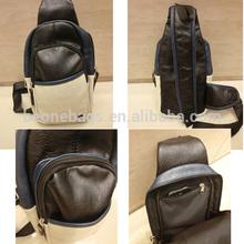 Portable Korean style trendy men messenger PU chest bag