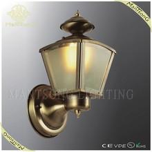 hot sale rustic egypt brass brown outdoor lighting glass wall light for garden