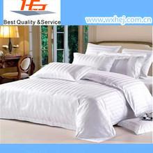 European Hospital White Stripe Bedding Set Bed Linen