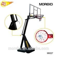 "MK027 Portable Basketball Goals with Breakaway Spring Rim, 54"" PC Fiberglass Backboard"