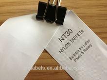 Nylon label tape, name label, jumbo rolls, coated, low cost