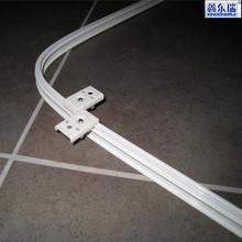 Factory supplier Anodized aluminium alloy profile bendable shower curtain rail
