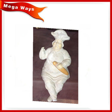 Home decoration resin Chef with bread figurine