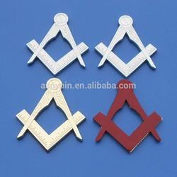 Gold and silver masonic car decals,Masons Friend masonic car emblem with strong adhesive sticker,die cut Masonic car badge