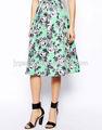 venta al por mayor 2014 el último estampado floral maxi largo falda de mujer elegante de la juventud falda falda maxi