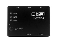 FY1408A IR remote 3X1 HDMI switcher routes high definition video and digital audio