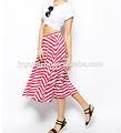 2014 moda falda larga, de rayas para mujer faldas, señoras trajes de falda larga