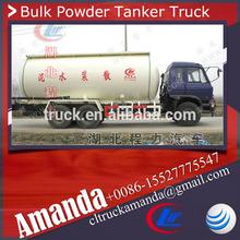 Dongfeng 6*4 trailer bulk flour, 26.2cbm bulk flour transport, 10 ton bulk flour truck