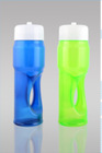multicolored PVC plastic Soda bottle with cap and straw,SGS certification BPA free