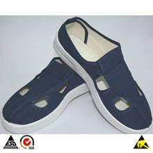 PVC Conductive Shoes, Blue+White