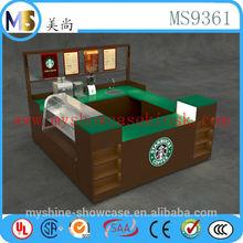 Unique USA coffee kiosk creative design for coffee shop